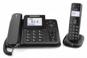 Das Doro Comfort 4005 Combo ist ein für Senioren geeignetes Festnetztelefon mit zusätzlichem Mobilteil.