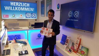 Bashir Rostamzada in seinem Shop in Mannheim