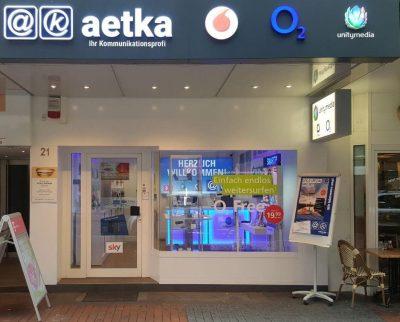 aetka Shop Mannheim von Außen
