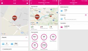 Car Connect App-Ansicht