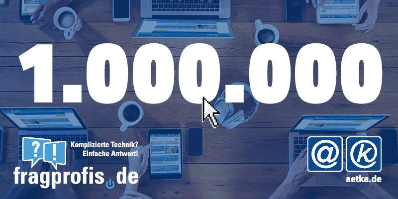 fragprofis 1 Million Klicks
