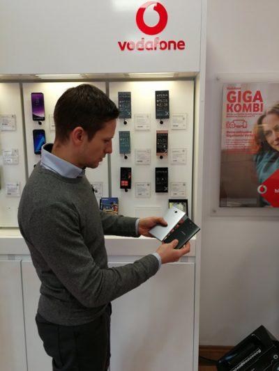 Sony Xperia XA2 mit Fingerabdrucksensor auf der Rückseite