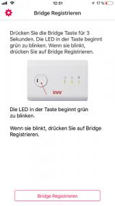 Kopplung der Innr Bridge mit der zugehörigen App