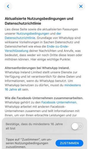 Whatsapp Nutzungsbedingungen Ablehnen
