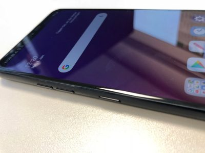 LG G7 Taste Seite für den Google Assistant
