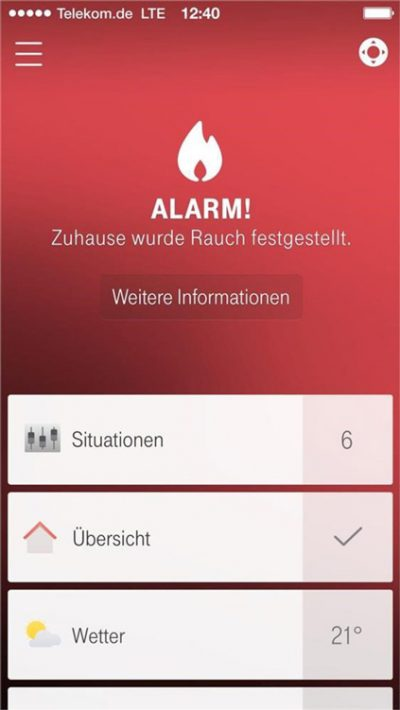 Magenta Smart Home - App Alarm