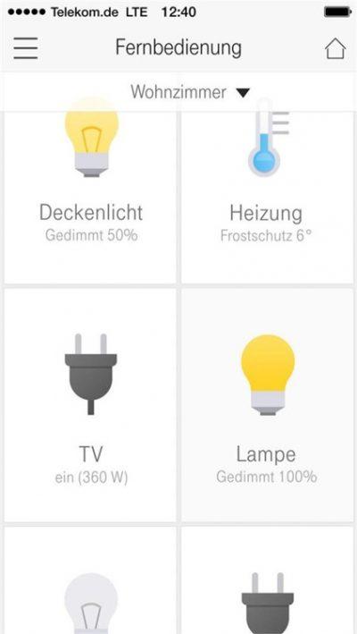 Magenta Smart Home - App Fernbedienung