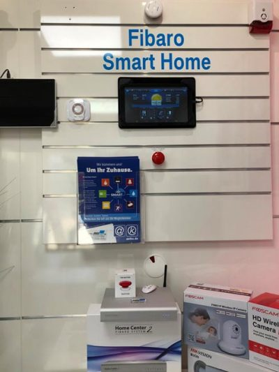 Fibaro Smart Home Vorführwand bei DWScom