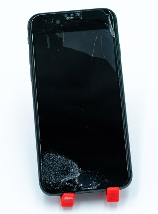 Smartphone mit kaputter Displayfolie