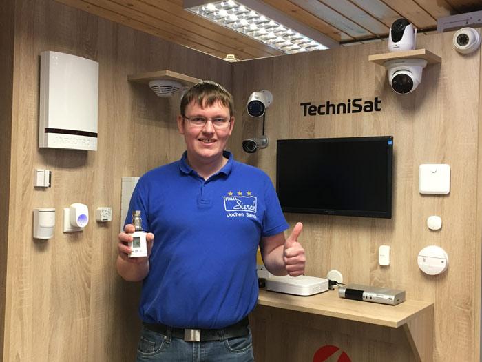 Jochen Sierck Technisat Vorführwand