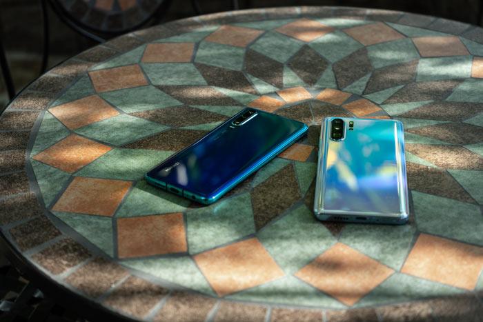 Huawei P30 und P30 Pro in den verschiedenen Farben