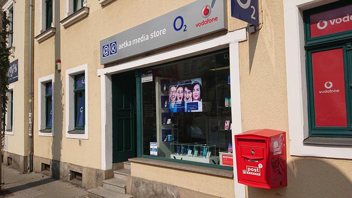 media Store Dresden Shop aussen