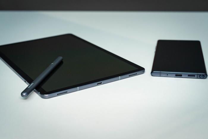 Größenvergleich Galaxy Tab S6 und Note 10