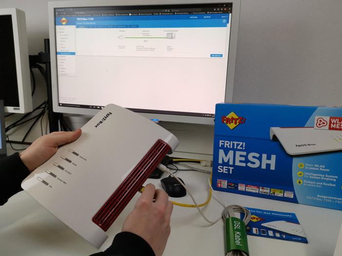 Router Verkabelung AVM Fritzbox