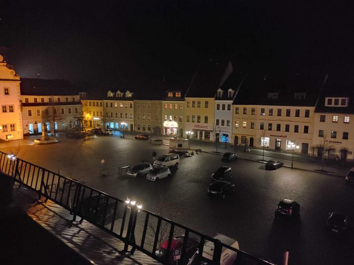 Markt Dippoldiwalde bei Nacht