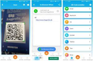 Screenshots QR-Code App QR Scanner