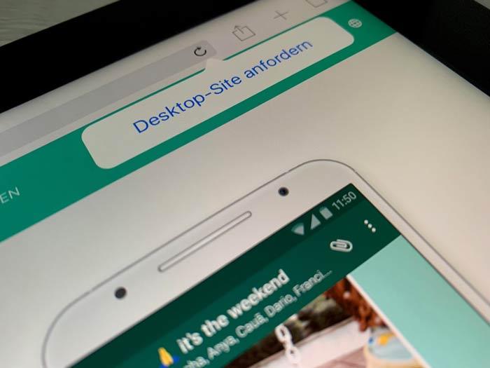 Desktop Seite anfordern auf dem iPad