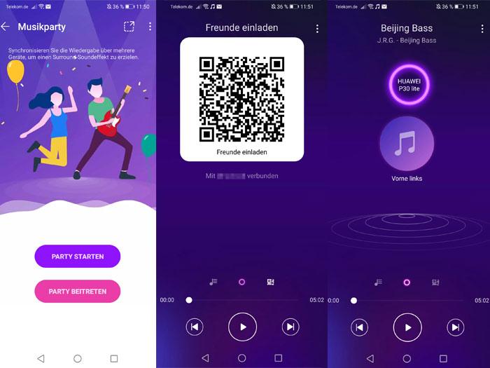 Huawei Music Partymodus