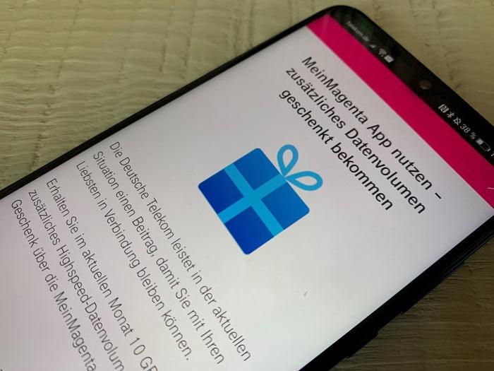 Telekom Extra Datenvolumen für mehr Streaming in der Mein Magenta App