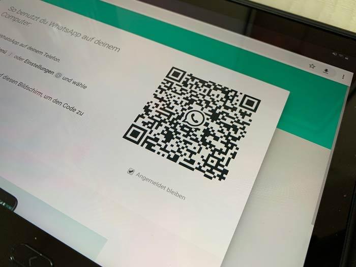 QR Code für Whatsapp Web