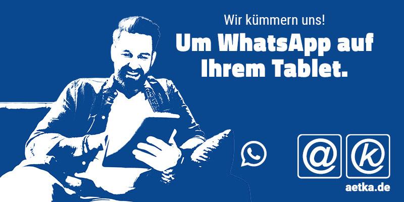 Whatsapp auf dem Tablet bzw. iPad