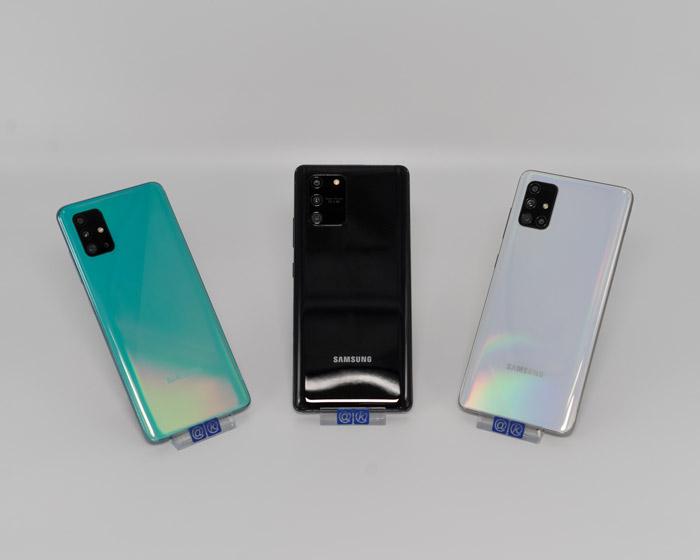 Das Galaxy A71 mit dem A51 und dem S10 lite