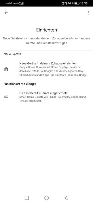 Google Nest Mini hinzufügen