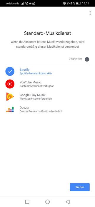 Google Nest Mini Verknüpfung Musikstreaming