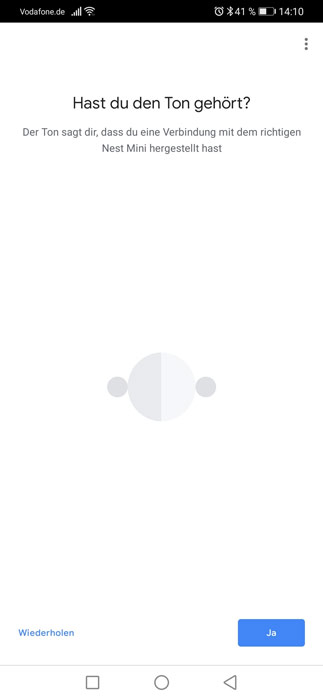 Google Nest Mini Verbindung herstellen