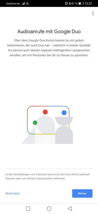 Google Duo koppeln