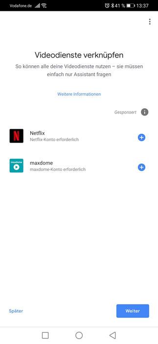 Videodienste verknüpfen