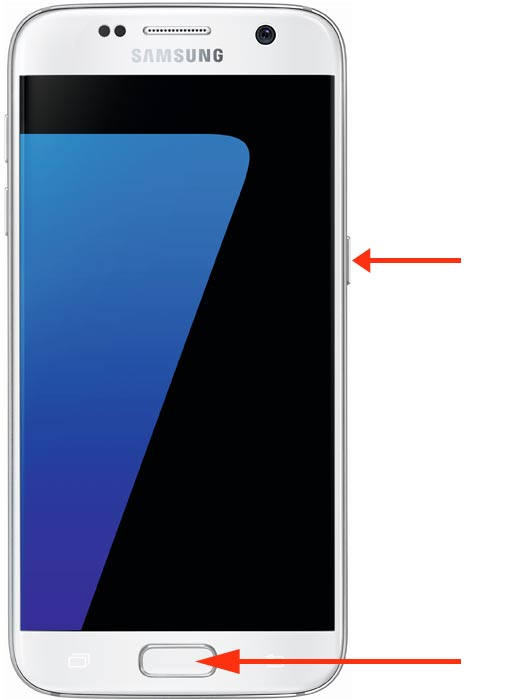 Samsung Screenshot Tastenkombination mit Homebutton