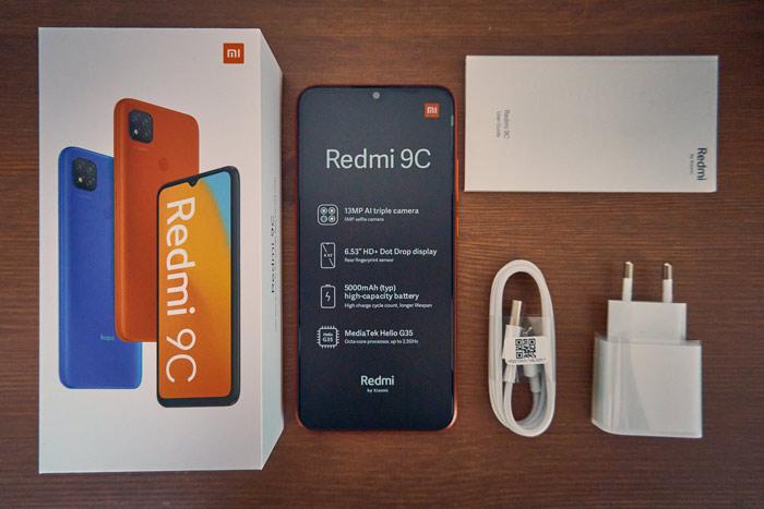 Xiaomi Redmi 9C Lieferumfang