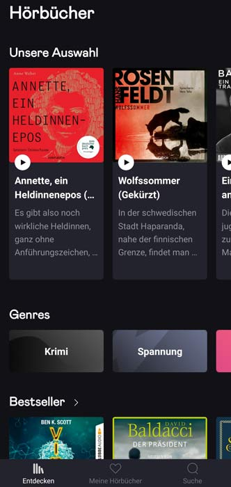 Audiobooks Deezer