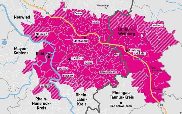 3G Abschaltung Telekom Koblenz Limburg Karte