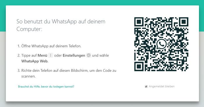 QR-Code zum scannen für WhatsApp-Web