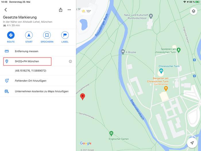 Google Maps Plus Code