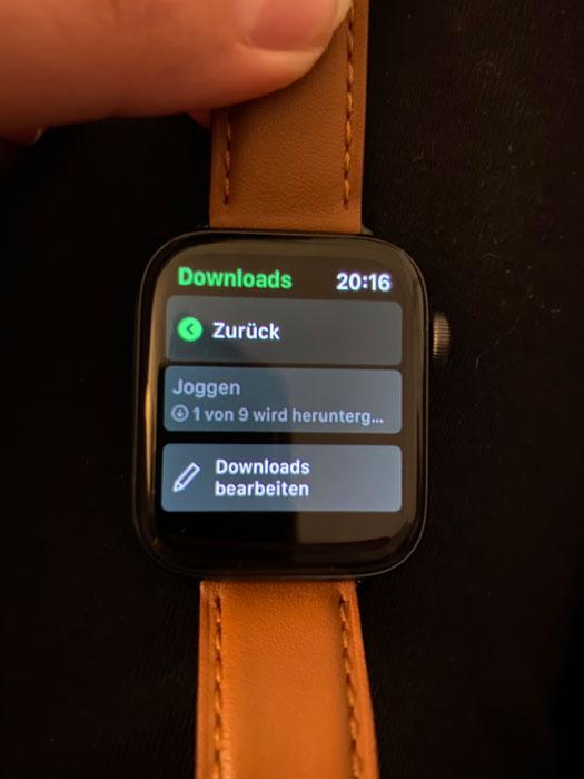 Apple Watch Download Songs von Spotify