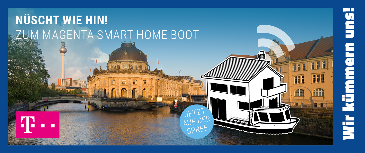 Magenta Smart Home Boot von Telekom & aetka